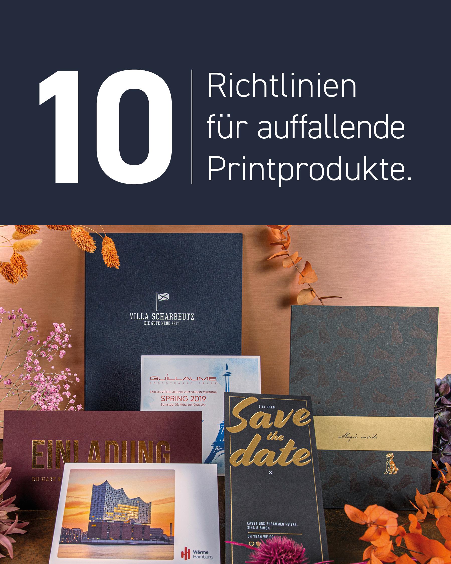 10 Richtlinien für auffallende Printprodukte Cover zwei