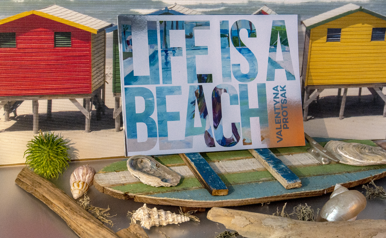 """Digitaldruck für die Broschüre """"Life is a Beach""""."""