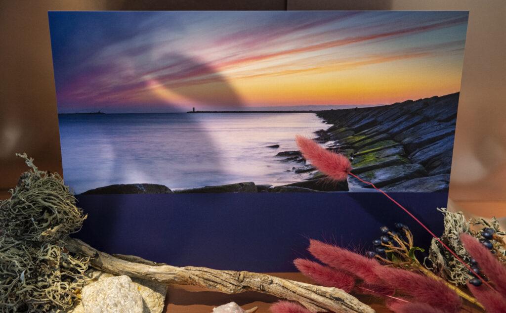 Printprodukte wie ein Sonnenuntergang vermitteln ein positives Feeling und transportieren Emotionen