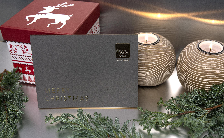 Weihnachtskarte gefertigt mit der Handwerkskunst im Druck.
