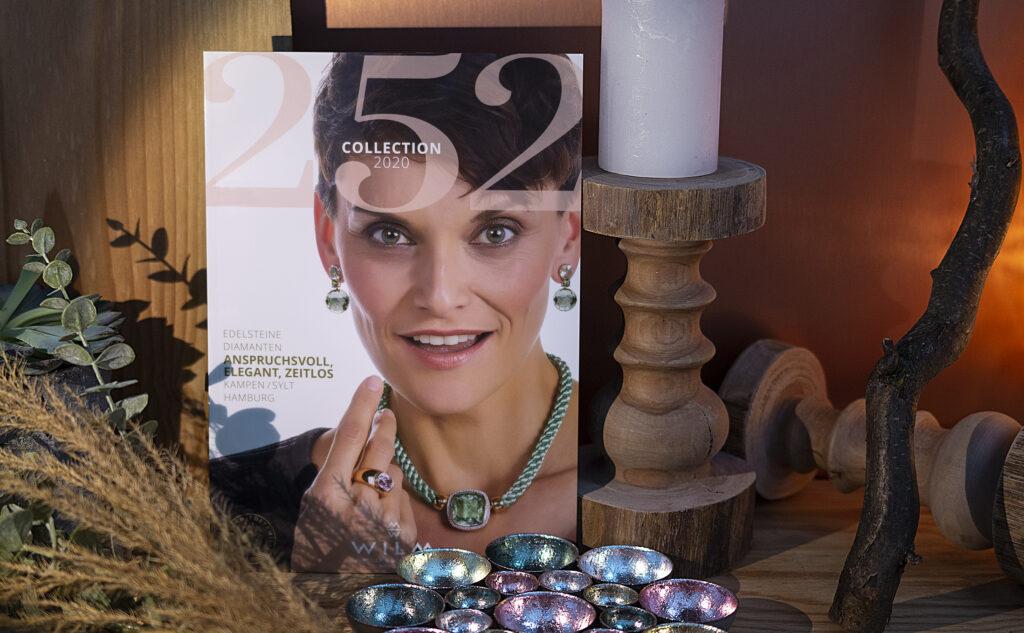 Broschüre von einem Juwelier als auffallendes Druckprodukt