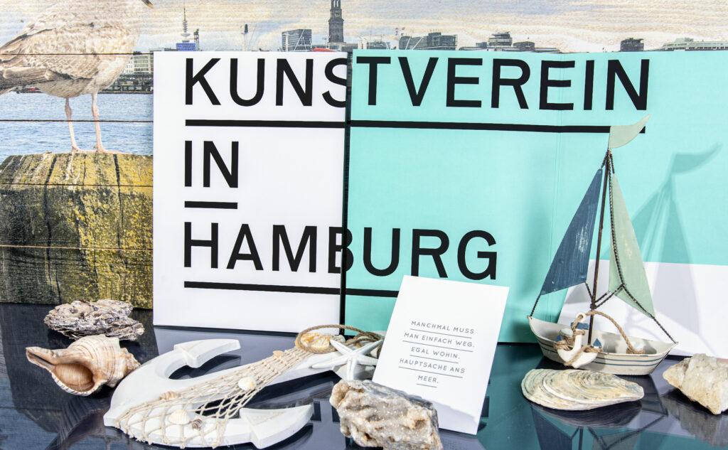 Mappe mit Klebelaschen für den Kunstverein Hamburg