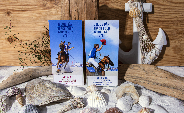 Die Wirkung der Farben mit Karten für das Beach Polo auf Sylt