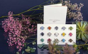 Entdecke die Produktvielfalt unserer Druckerei in Hamburg mit einer Broschüre und Karte von einem Juwelier.