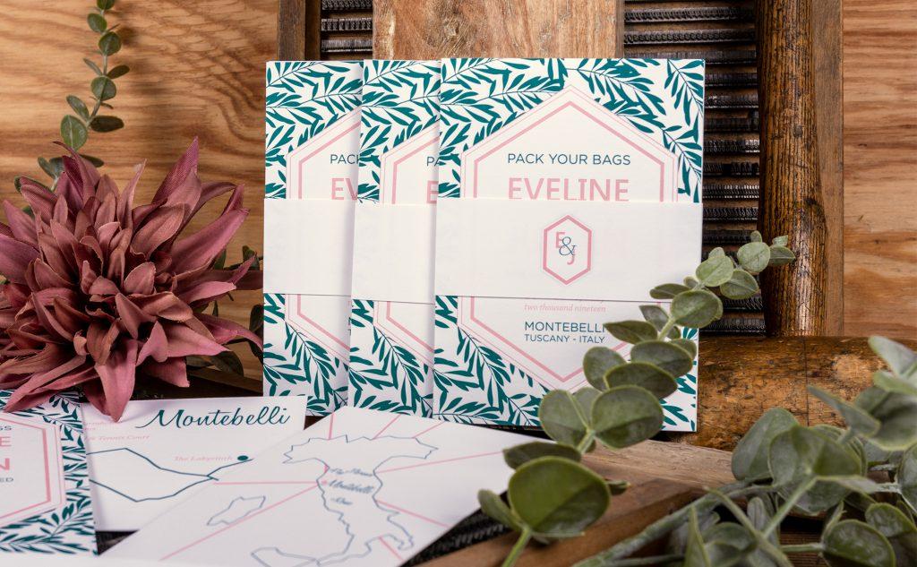 Hochzeitkarten Kollektion auf einer ungestrichenen Papiersorte für den Letterpress.
