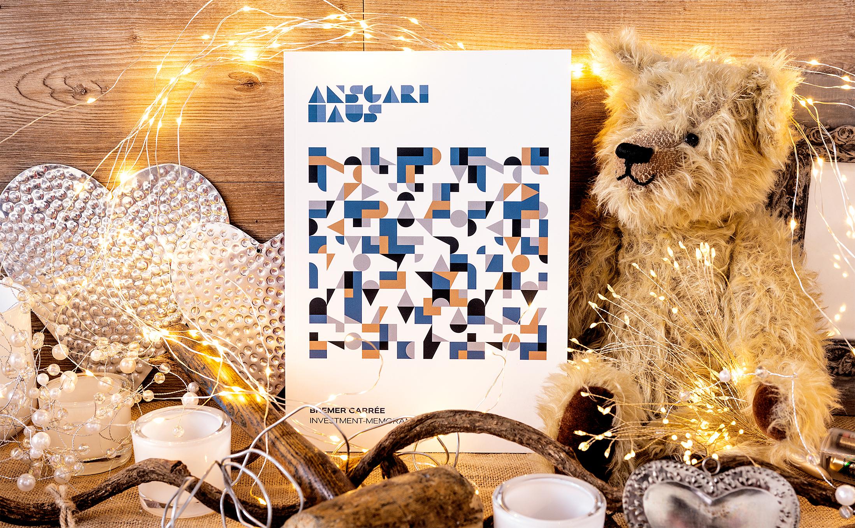 Klebegebundene Broschüre für das Ansgari Haus im Bremer Carrée.