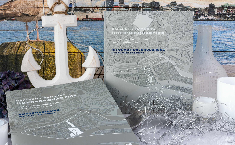 Herstellung von anspruchsvollen Broschüren für die HafenCity Hamburg