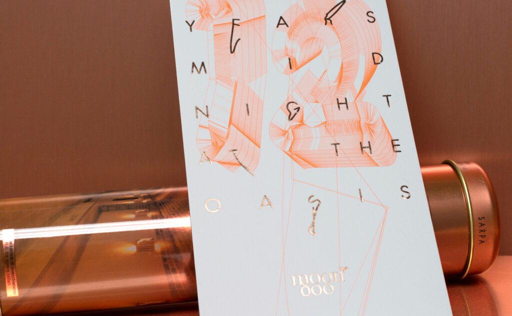 Ideenfindung und Umsetzung einer kreativen Einladungskarte mit einer Heißfolienprägung in Kupfer